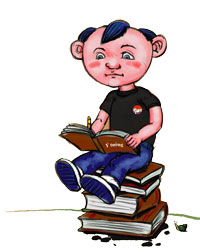 Bookworm Festival Mascot