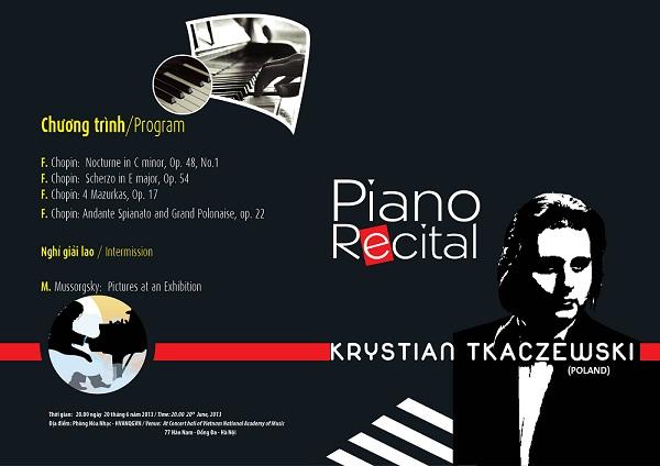 Concert with Pianist Krystian Tkaczewski