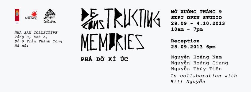 Deconstructing Memories - Open Studio
