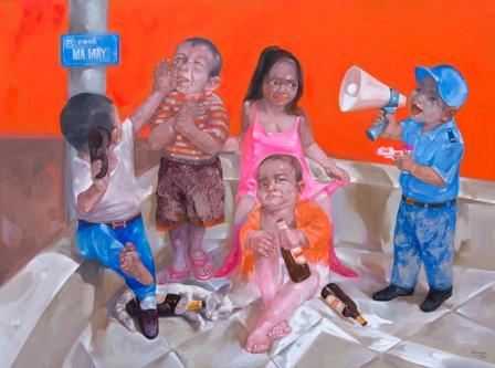 Luong trung-Play boy-120x160-oil on canvas-1