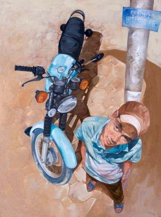 Luong trung-waiting for work-120x160-oil on canvas-2