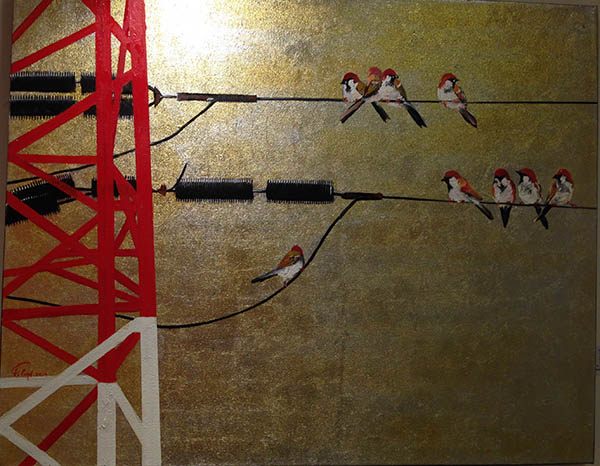 "Artwork ""On the wire"" by Pham Duy Qunh"