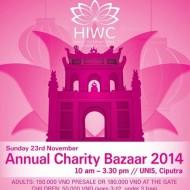 HIWC Charity Bazaar 2014 poster