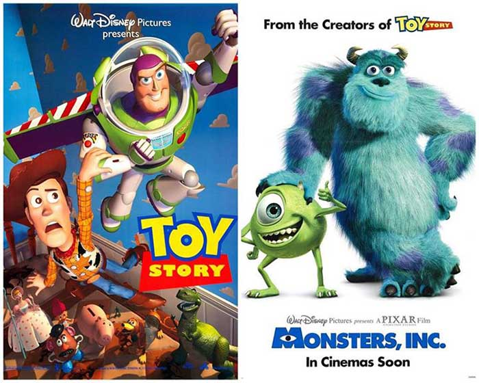 "Films Screening ""Toy Story"" And ""Monster, Inc."""