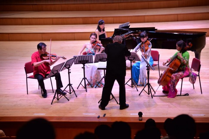 A performance of the Hanoi New Ensemble Music's members. Photo from HNEM's Facebook page