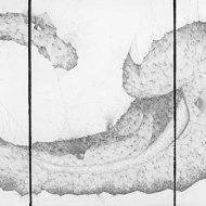 Cá ngựa, 112*228 cm, mực tàu trên giấy (hình ảnh từ website của nghệ sỹ)