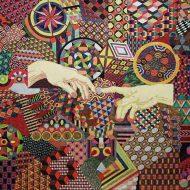 Bàn tay Tạo hóa, 2016 (50x70cm, marker màu trên giấy elephant hide)