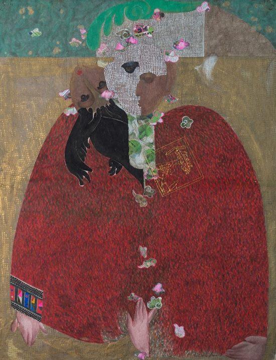 Ngày Rỗi 02 ( serie Đa Diện), acrylic và màu nước trên giấy dó, 128 x 98 cm